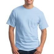 Tagless ® 100% Cotton T Shirt with Pocket
