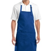 Adjustable Bib Apron with Three Pockets