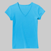 Anvil® Ladies 100% Ring Spun Cotton V-Neck T-Shirt