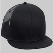 Superior Cotton Twill Flat Visor Pro Style Mesh Back Snapback Caps