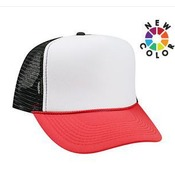 POLYESTER FOAM FRONT FIVE PANEL HIGH CROWN MESH BACK TRUCKER HAT