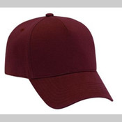 COMFY COTTON JERSEY KNIT FIVE PANEL PRO STYLE BASEBALL CAP
