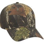 CAMOUFLAGE COTTON BLEND TWILL SIX PANEL LOW PROFILE BASEBALL CAP