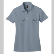 Ladies Jersey Double Pocket Polo.
