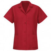 WOMEN'S LOOSE FIT BUTTON SMOCK