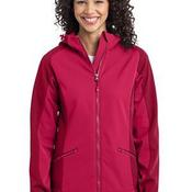 Ladies Gradient Hooded Soft Shell Jacket