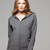 Ladies' Raglan Full-Zip Hooded Sweatshirt
