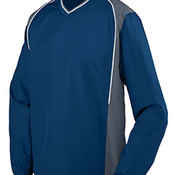 Adult Water Resistant Polyester Diamond Tech V-Neck Pullover