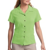 Ladies Silk Blend Camp Shirt