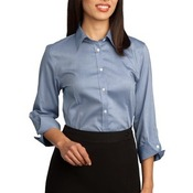 Ladies 3/4 Sleeve Non Iron Pinpoint Oxford