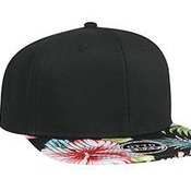 SUPERIOR COTTON TWILL WITH HAWAIIAN PATTERN SQUARE FLAT VISOR PRO STYLE SNAPBACK CAPS